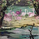 Животные ручной работы. Ярмарка Мастеров - ручная работа. Купить Фламинго. Handmade. Картина, птицы, зоопарк, природа, масло, подарок