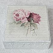 """Для дома и интерьера ручной работы. Ярмарка Мастеров - ручная работа Шкатулка """"Розы в стиле шебби шик"""". Handmade."""