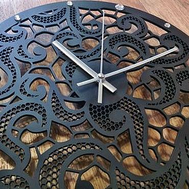 """Для дома и интерьера ручной работы. Ярмарка Мастеров - ручная работа Настенные часы """"Осьминожки"""". Handmade."""