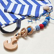 Одежда handmade. Livemaster - original item Teething toy wooden clip-on