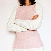 """Одежда ручной работы. Ярмарка Мастеров - ручная работа Джемпер """"Розовая лагуна"""". Handmade."""