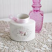 Для дома и интерьера ручной работы. Ярмарка Мастеров - ручная работа Банка-вазочка с розами. Handmade.