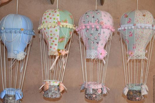 Куклы Тильды ручной работы. Ярмарка Мастеров - ручная работа. Купить Воздушный шар. Handmade. Комбинированный, прованс, атласная лента