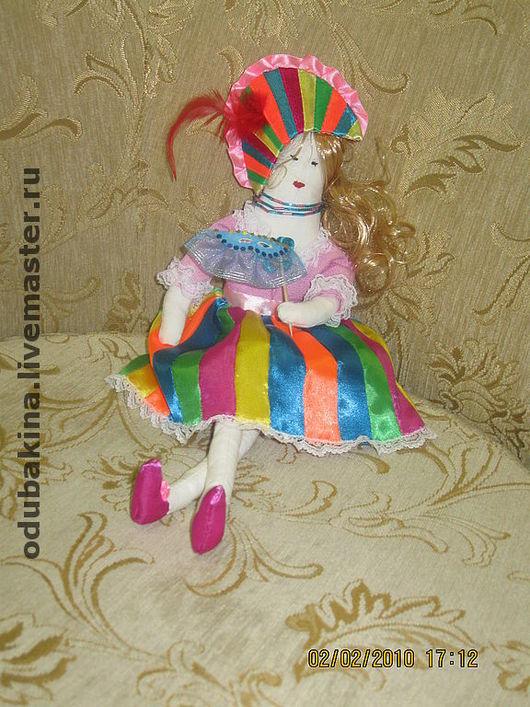 """Портретные куклы ручной работы. Ярмарка Мастеров - ручная работа. Купить Интерьерная текстильная кукла """"Коломбина"""". Handmade. Текстильная кукла"""