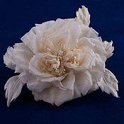 """Цветы и флористика ручной работы. Ярмарка Мастеров - ручная работа Цветы из ткани. """"Свадебная роза"""". Handmade."""