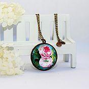 """Украшения ручной работы. Ярмарка Мастеров - ручная работа Кулон """"Розовый сад"""" версия 4. Handmade."""
