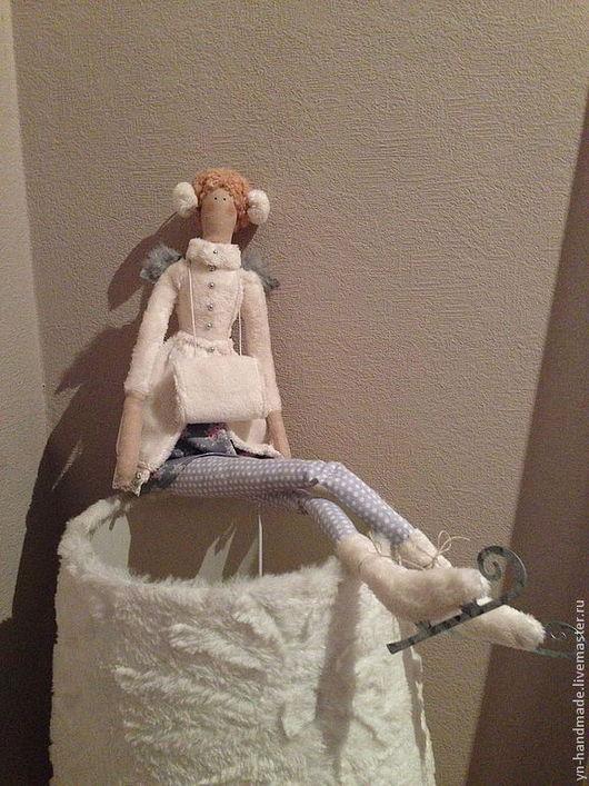 Куклы Тильды ручной работы. Ярмарка Мастеров - ручная работа. Купить Фея на коньках. Handmade. Белый, тильда фея