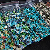 Материалы для творчества handmade. Livemaster - original item Packages of Separating Beads Buffalo Bone Mix. Handmade.