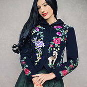 Одежда handmade. Livemaster - original item Exclusive suit with hand embroidery