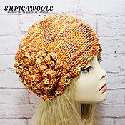 Аксессуары handmade. Livemaster - original item Vivid women`s knitted beanie. Handmade.
