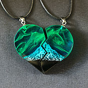 Украшения handmade. Livemaster - original item Paired pendant