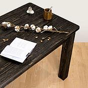 Столы ручной работы. Ярмарка Мастеров - ручная работа Обеденный стол из массива дерева с применением брашировки. Handmade.