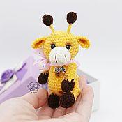 Мягкие игрушки ручной работы. Ярмарка Мастеров - ручная работа Карманный жирафик. Handmade.