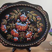 Русский стиль handmade. Livemaster - original item Zhostovo tray Zhostovo author