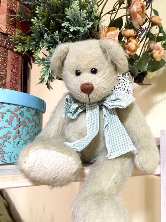 Винтажные куклы и игрушки. Ярмарка Мастеров - ручная работа. Купить Винтажный Мишка с бантом. Handmade. Мишка тедди, мишутка