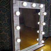 """Для дома и интерьера ручной работы. Ярмарка Мастеров - ручная работа Гримерное зеркало """"Фактурное"""". Handmade."""