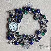 "Часы наручные ручной работы. Ярмарка Мастеров - ручная работа Часы-браслет ""Сумерки"". Handmade."