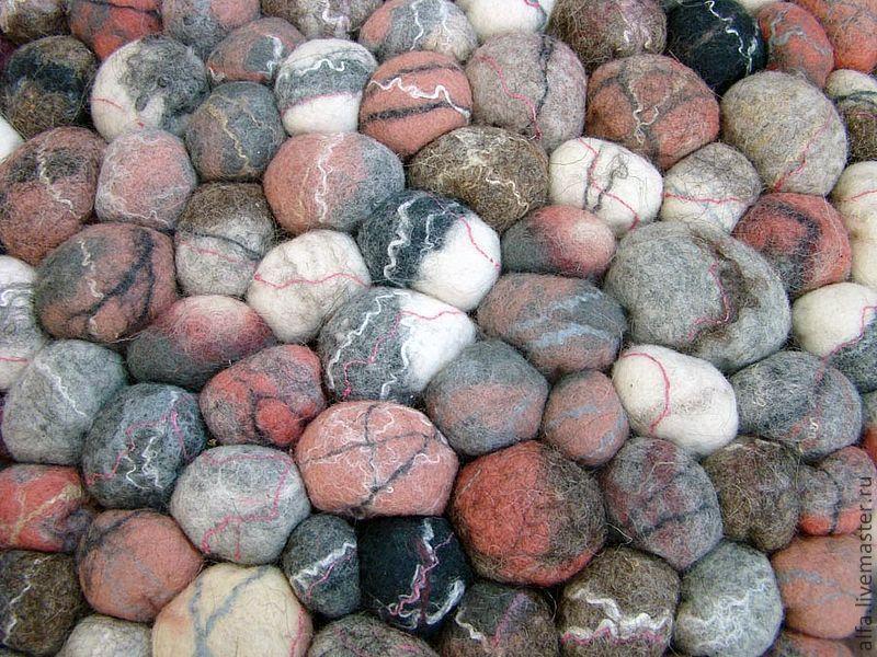 """Текстиль, ковры ручной работы. Ярмарка Мастеров - ручная работа. Купить Ковер"""" Каменный остров"""". Handmade. Коврик, бледно-розовый"""