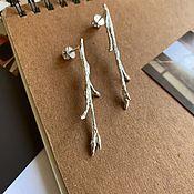 Серьги классические ручной работы. Ярмарка Мастеров - ручная работа Серьги «Ветви». Handmade.