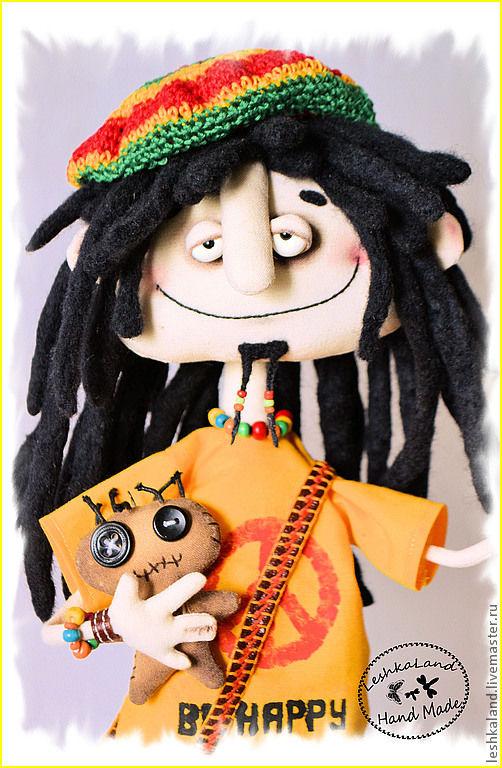 Коллекционные куклы ручной работы. Ярмарка Мастеров - ручная работа. Купить ...dont worry, be happy.... Handmade. Растаман, прикол