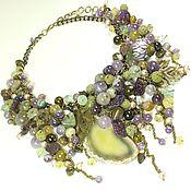 Украшения handmade. Livemaster - original item Grape Maelstrom. Necklace made of natural stones. Handmade.