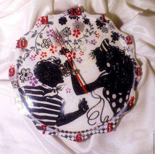 "Часы для дома ручной работы. Ярмарка Мастеров - ручная работа. Купить Часы настенные ""Румба!"". Handmade. Часы, карнавал, фанер"
