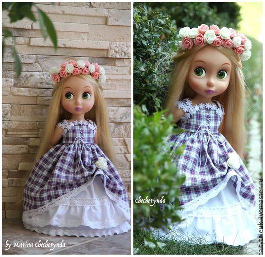 Одежда для кукол ручной работы. Ярмарка Мастеров - ручная работа. Купить Платье для куклы Дисней. Handmade. Одежда для куклы дисней