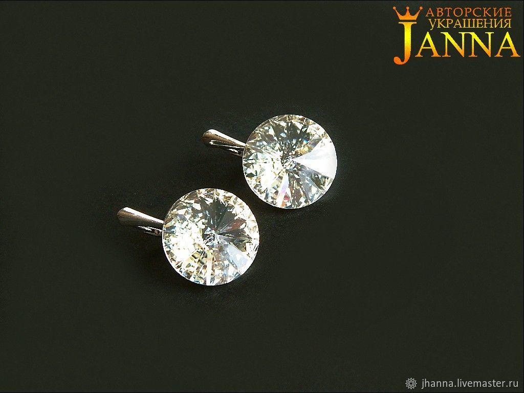 """Сваровски. """"Shein"""" серьги с кристаллами Сваровски риволи, Earrings, Volgograd,  Фото №1"""