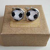 Украшения handmade. Livemaster - original item Cufflinks silver plated Football goal. Handmade.