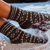 Аксессуары handmade. Livemaster - original item Downy socks