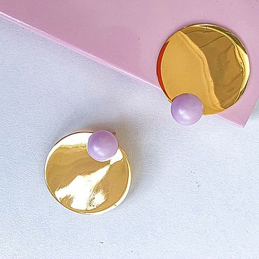 Decorations handmade. Livemaster - original item earrings: Round planet earrings. Handmade.