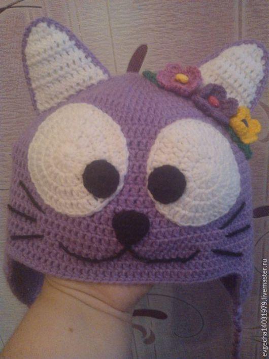 """Одежда для девочек, ручной работы. Ярмарка Мастеров - ручная работа. Купить Шапочка """"Кошка"""". Handmade. Зверошапка, шапка для девочки"""