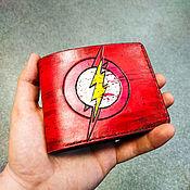 handmade. Livemaster - original item Flash Flash Wallet genuine leather, leather wallet for men. Handmade.