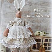 Куклы и игрушки ручной работы. Ярмарка Мастеров - ручная работа Шебби зайка с подушкой. Handmade.