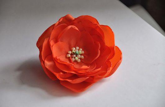 Броши ручной работы. Ярмарка Мастеров - ручная работа. Купить брошь-цветок. Handmade. Брошь-цветок, ткань