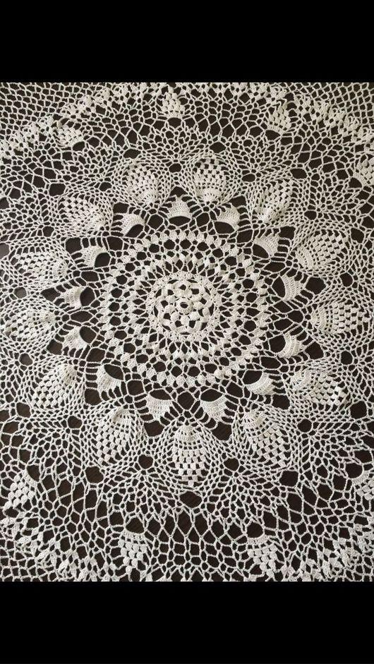 Текстиль, ковры ручной работы. Ярмарка Мастеров - ручная работа. Купить Копия работы: Скатерть. Handmade. Вязание крючком, скатерть