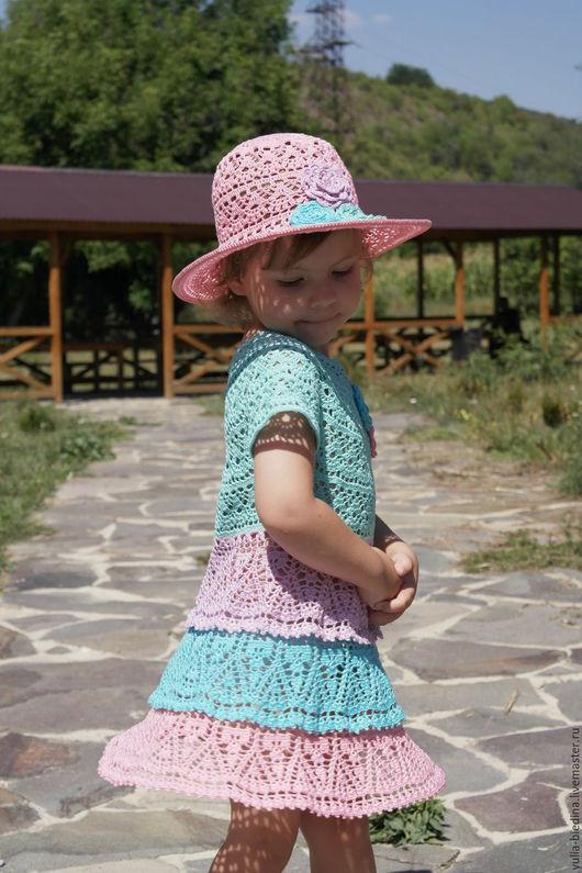 """Одежда для девочек, ручной работы. Ярмарка Мастеров - ручная работа. Купить Комплект для девочки """"Дивный сад"""". Handmade. Одежда для девочек"""