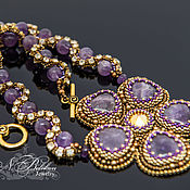 Украшения handmade. Livemaster - original item Necklace of amethysts Valentine. Handmade.