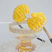 Работы для детей, handmade. Livemaster - original item Bezel kanzashi for hair. Handmade.