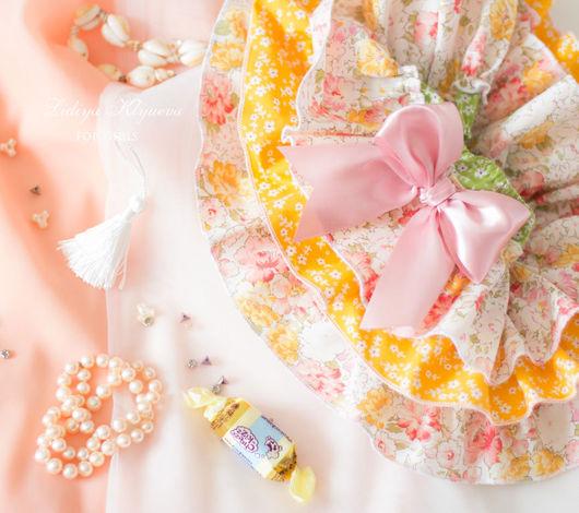 """Одежда для девочек, ручной работы. Ярмарка Мастеров - ручная работа. Купить Юбочка-трусики на памперс - блумеры """"Солнечная"""". Handmade. Желтый"""