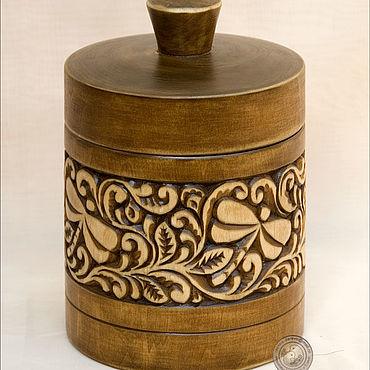 """Посуда ручной работы. Ярмарка Мастеров - ручная работа Банка для сухих продуктов """"Стрекозы"""". Handmade."""
