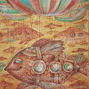 """Картины и панно ручной работы. Ярмарка Мастеров - ручная работа картина""""Путешествие в осеннем настроение """". Handmade."""