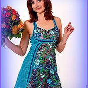 """Одежда ручной работы. Ярмарка Мастеров - ручная работа платье """"Capriccio blu"""". Handmade."""