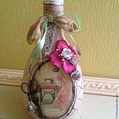 Сувениры и подарки ручной работы. Ярмарка Мастеров - ручная работа декоративная бутылка. Handmade.