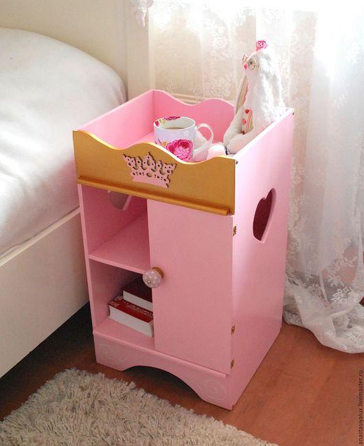Детская ручной работы. Ярмарка Мастеров - ручная работа. Купить Тумба детская. Handmade. Розовый, мебель для детской