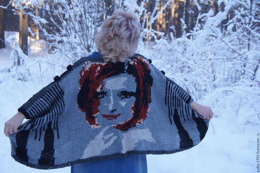 """Верхняя одежда ручной работы. Ярмарка Мастеров - ручная работа. Купить куртка туника """"Бабочки в Снегу"""". Handmade. Комбинированный, лицо"""