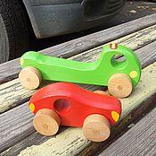Куклы и игрушки ручной работы. Ярмарка Мастеров - ручная работа Деревянная машинка Автотрейлер Эвакуатор. Handmade.