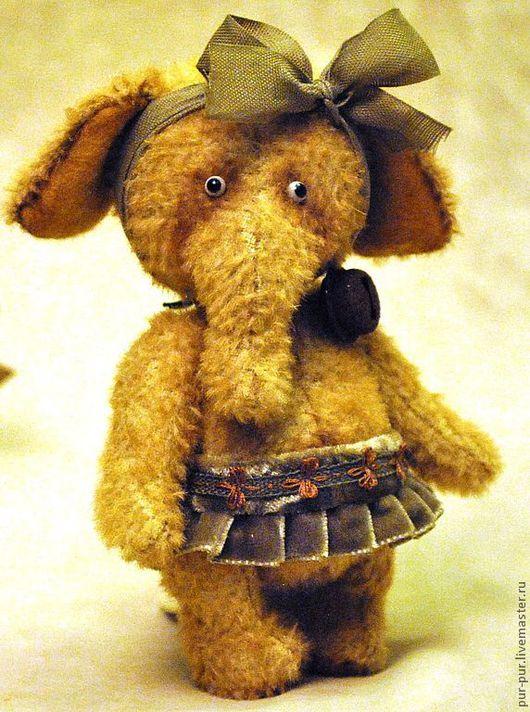 Мишки Тедди ручной работы. Ярмарка Мастеров - ручная работа. Купить Оливочка. Handmade. Коричневый, слоны, друзья мишек тедди
