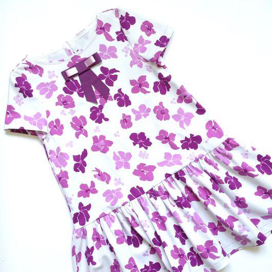Одежда для девочек, ручной работы. Ярмарка Мастеров - ручная работа. Купить Платье из хлопка на девочек- подростков.. Handmade. Хлопок стрейч