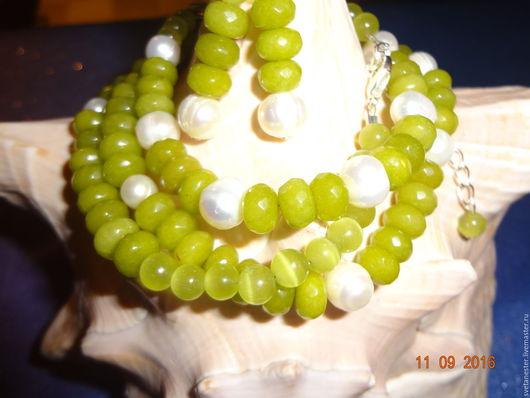 Комплекты украшений ручной работы. Ярмарка Мастеров - ручная работа. Купить Рождённая в мае. Handmade. Ярко-зелёный, весеннее настроение